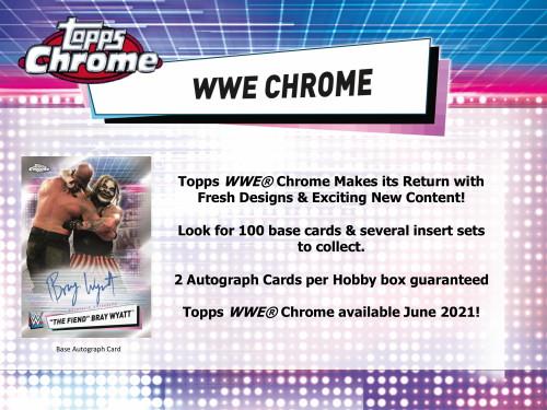 2021 Topps WWE Chrome Wrestling Hobby 8 Box Case