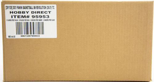 2020/21 Panini Revolution Basketball Hobby 16 Box Case