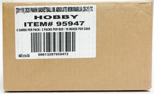 2020-21 Panini Absolute Memorabilia Basketball Hobby 10 Box Case