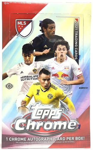 2021 Topps Chrome MLS Major League Soccer Hobby Box