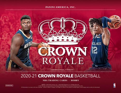 2020/21 Panini Crown Royale Basketball Hobby 16 Box Case