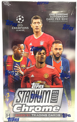 2020-21 Topps UEFA Champions League Stadium Club Chrome Soccer Hobby Box