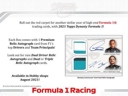 2021 Topps Dynasty Formula 1 Racing Hobby Box