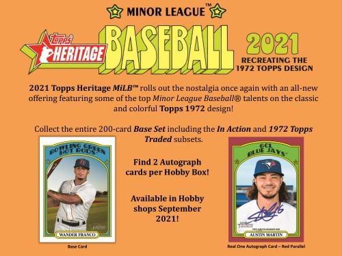 2021 Topps Heritage Minor League Baseball Hobby Box