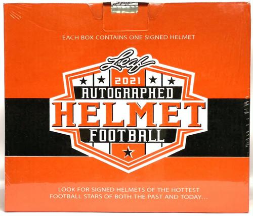 2021 Leaf Autographed Full Sized Helmet Football Box