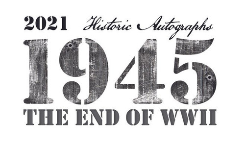 2021 Historic Autographs 1945: The End of WWII Hobby Box