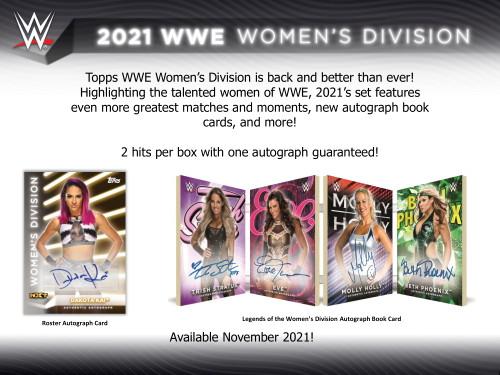 2021 Topps WWE Women's Division Wrestling Hobby 12 Box Case