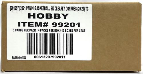 2020-21 Panini Clearly Donruss Basketball Hobby 12 Box Case