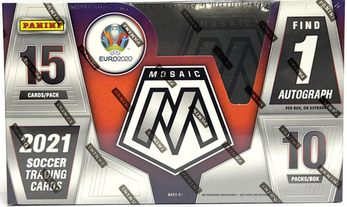 2020-21 Panini Mosaic UEFA Euro Soccer Hobby Box