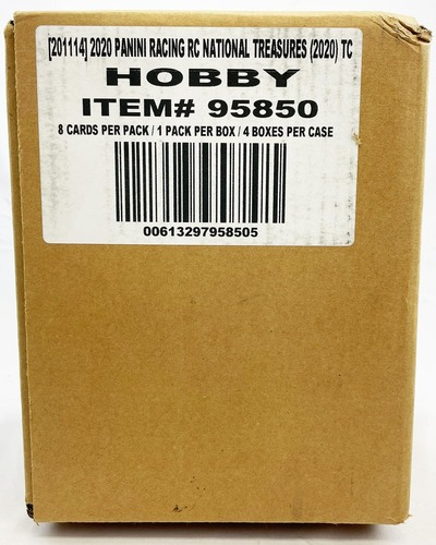 2020 Panini National Treasures Racing Hobby 4 Box Case