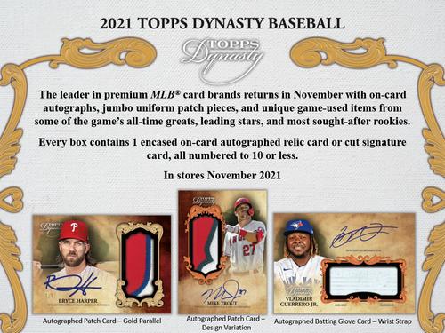 2021 Topps Dynasty Baseball Hobby 5 Box Case