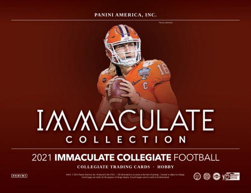 2021 Panini Immaculate Collegiate Football Hobby 5 Box Case