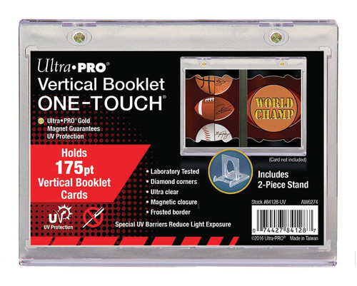 Ultra Pro Vertical Booklet Magnetic Card Holder UV ONE-TOUCH 175pt