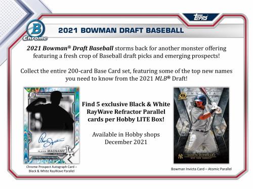 2021 Bowman Draft Baseball LITE 16 Box Case