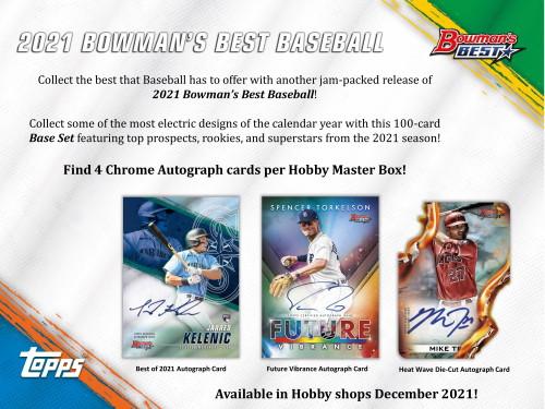2021 Bowman's Best Baseball Hobby 8 Box Case