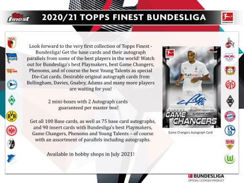 2020/21 Topps Finest Bundesliga Soccer Hobby Box