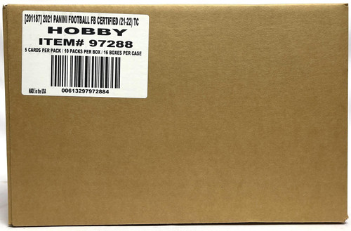 2021 Panini Certified Football Hobby 16 Box Case