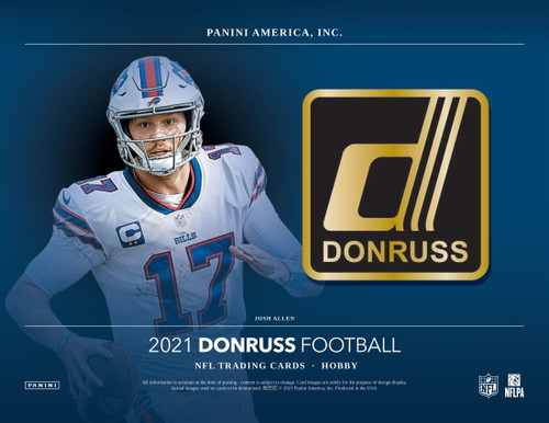 2021 Panini Donruss Football Hobby 18 Box Case