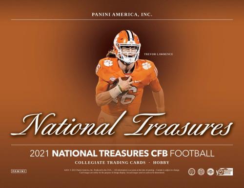 2021 Panini National Treasures Collegiate Football Hobby 4 Box Case