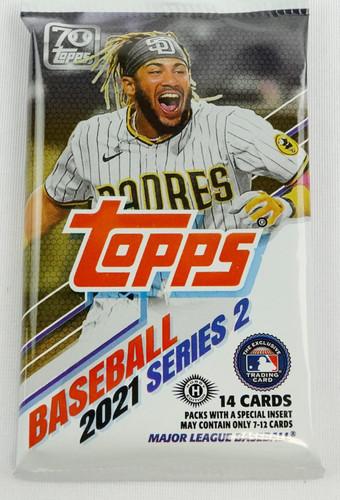 2021 Topps Series 2 Baseball Hobby 14 Card Pack