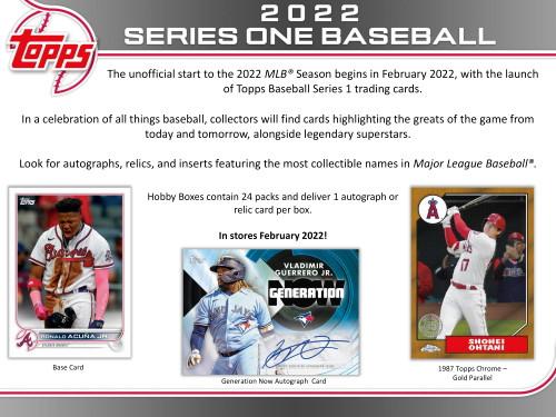 2022 Topps Series 1 Baseball Hobby Jumbo 6 Box Case