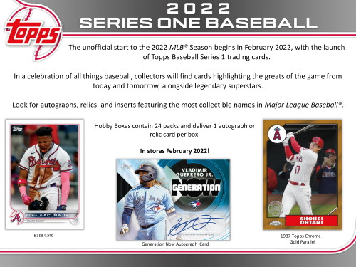2022 Topps Series 1 Baseball Hobby Jumbo Box