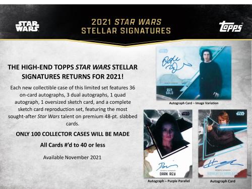 2021 Topps Star Wars Stellar Signatures Case
