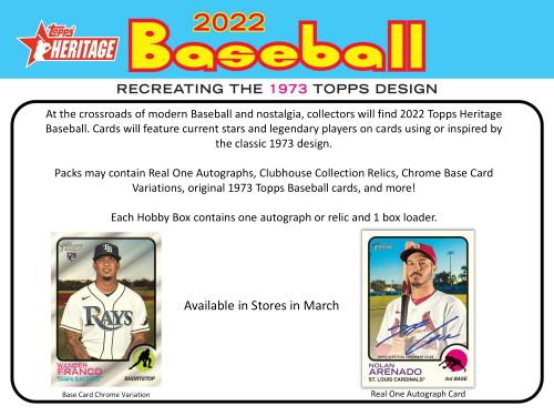 2022 Topps Heritage Baseball Hobby 9 Card Pack