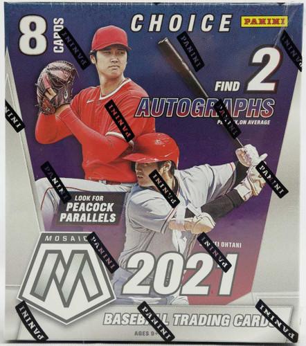 2021 Panini Mosaic Choice Baseball Hobby Box