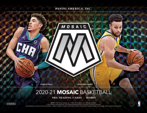 2020/21 Panini Mosaic Basketball Hobby 12 Box Case