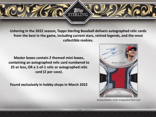 2022 Topps Sterling Baseball Hobby 8 Box Case