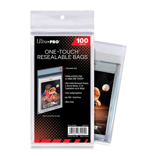 Ultra Pro ONE TOUCH Resealable Bags 100 Ct.
