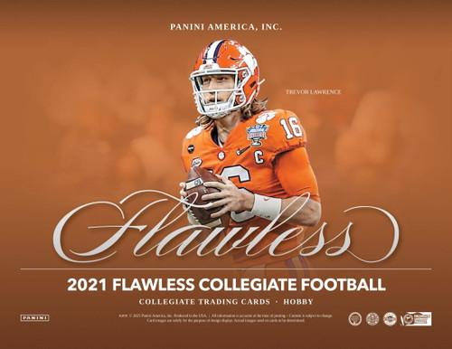 2021 Panini Flawless Collegiate Football Hobby 2 Box Case