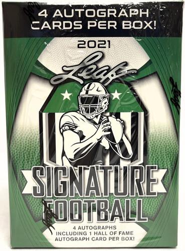 2021 Leaf Signature Football Blaster Box