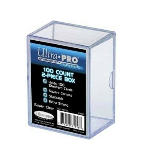 Ultra Pro 100 Count Two-Piece Clear Trading Card Storage Box