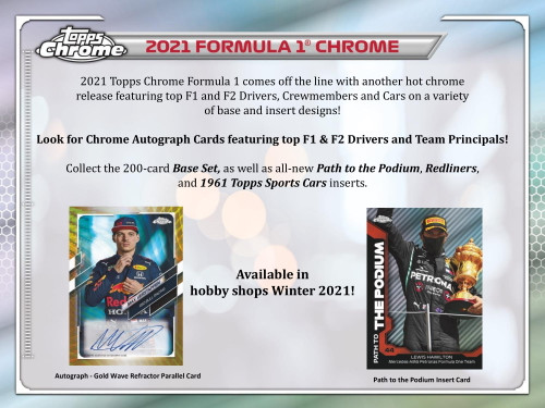 2021 Topps Chrome Formula 1 Racing Hobby Box