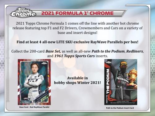 2021 Topps Chrome Formula 1 Racing Hobby Lite Box