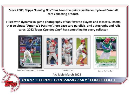 2022 Topps Opening Day Baseball Hobby Box