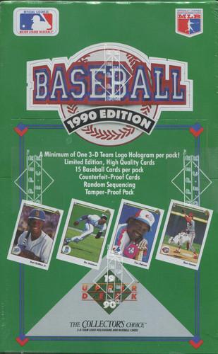 1990 Upper Deck Low Series Baseball Wax Box