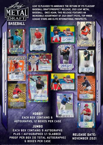 2021 Leaf Metal Draft Baseball Jumbo Box