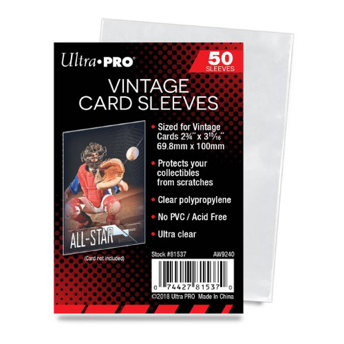 Ultra Pro 2-3/4 X 3-15/16 Vintage Soft Card Sleeves 50Ct. Pack