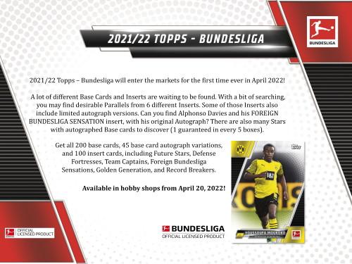 2021/22 Topps Bundesliga Soccer Hobby 12 Box Case