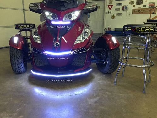"""CAN AM RT 2010-18 BRIGHT """"SPYCLOPSII"""" LED LIGHT FOR UNDER THE FRONT LIP OF THE HOOD"""