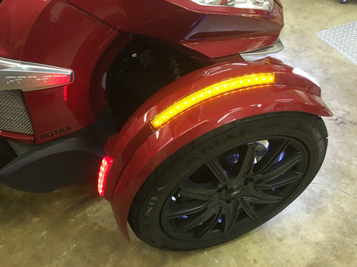 2013-2018 RT COMPLETE FRONT FENDER NEXT GEN LED REFLECTOR KIT BY SHOW CHROME. FITS ALL RT SPYDERS WITH THE NEW STYLE FENDERS INCLUDES CUSTOM PLUG AND PLAY WIRING HARNESS.(SPY224)