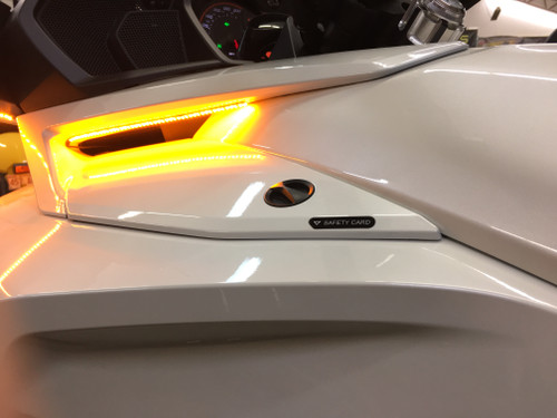 """F3 TOURING & LIMITED """"STAYON"""" AMBER LED SIDE VENT LIGHTS THAT ARE ON ALL THE TIME  AND BLINK WHEN TURNING. WILL NOT WORK ON 2019 F3 MODELS!(SPY345)"""