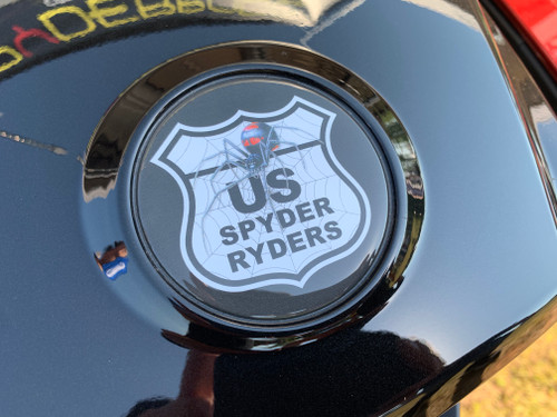 CAN AM GS/RS/ST ALL MODELS US SPYDER RYDERS 3-PIECE LOGO KIT REPLACES OEM LOGOS ON THE HOOD/REAR FENDER/CLUSTER