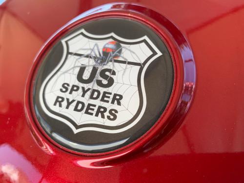 CAN AM F3 LIMITED, F3/F3S & F3T W/TOP CASE- US SPYDER RYDERS 3-PIECE DOMED LOGO KIT FOR HOOD/TOP CASE OR REAR FENDER/CLUSTER