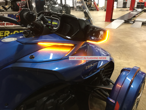 "CAN AM SPYDER 2019-UP F3T/LTD SIDE VENT ""STAY-ON"" RUNNING AND TURN SIGNALS"