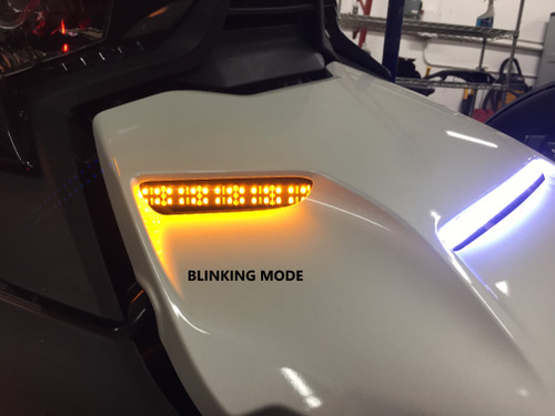"""CAN AM RYKER EPIC HOOD LIGHTS WITH 3-PIECE BRIGHT LED RUNNING LIGHTS WITH TOP AMBER """"STAYON"""" TURN SIGNALS (SPY372)"""