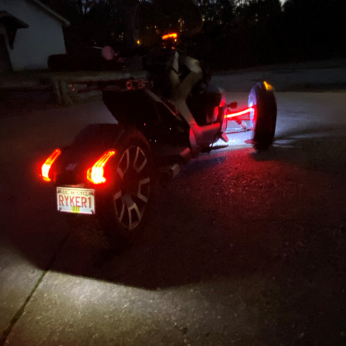 RYKER-OPTIC RED/RUN/TURN SIGNALS ON UPPER A-ARM REAR FACING LED LIGHTS (ADD-ON KIT) TO BE USED WITH HOOD LIGHTS OR AMBER BRUSH GUARD SIGNALS THAT ALREADY HAVE FENDER HARNESSES, PLUG/PLAY. (SPY386}